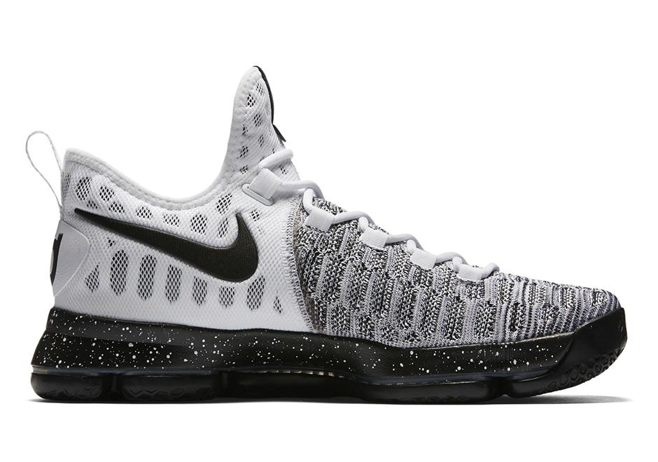 7418e7ccc35650 Nike KD 9 White Black 843392-100 Release Date
