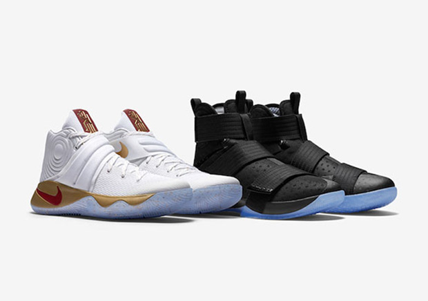 "The Nike LeBron/Kyrie ""Four Wins"" Pack Is Releasing Again At Foot Locker"