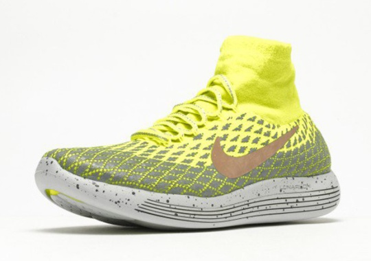 The Nike LunarEpic Flyknit Shield Is Back In Volt