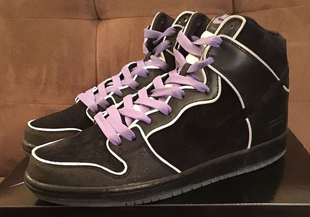 "The Nike SB Dunk High ""Purple Box"" Resembles The MF DOOM Collaboration fce696d67681"