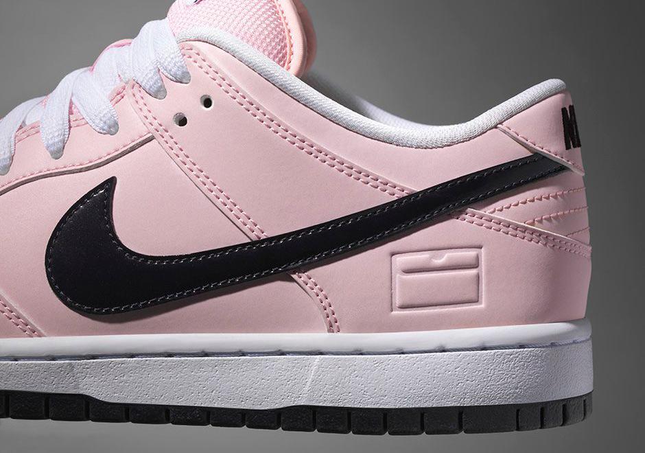 Nike SB Dunk Low Pink Box Prism Pink-Black - White
