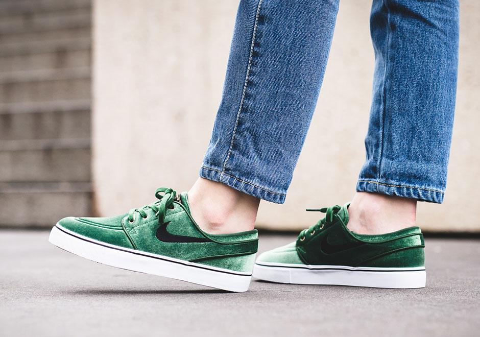 Nike SB Janoski Green Velvet Christmas