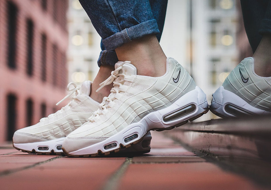 nike air max 95 white black cool grey gum w