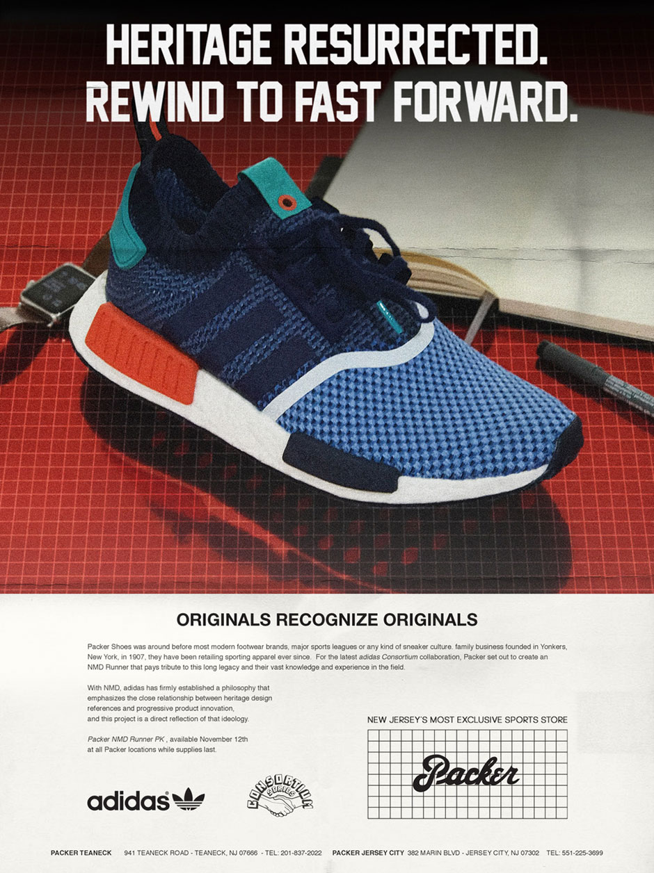 separation shoes c28e5 780da Packer Shoes Recreates Vintage Ads For Upcoming adidas NMD Release ...