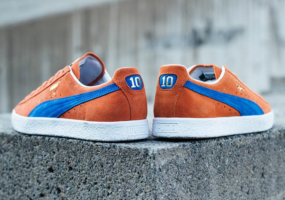 new concept 0ed45 72857 Puma Clyde Knicks Orange Suede | SneakerNews.com