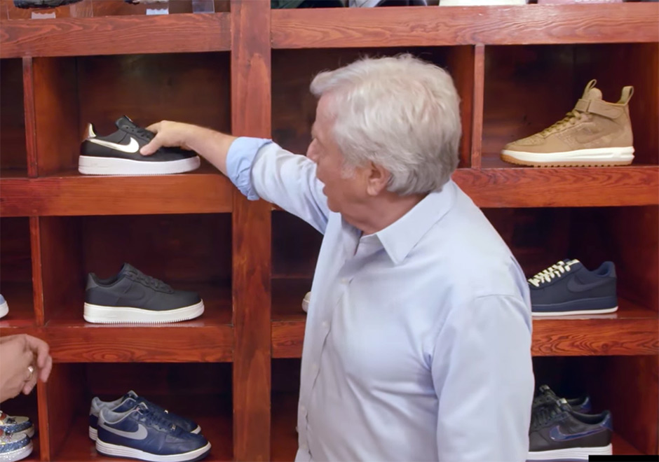 942655596f026 New England Patriots Owner Robert Kraft Loves Nike Roshes And Air Force 1s