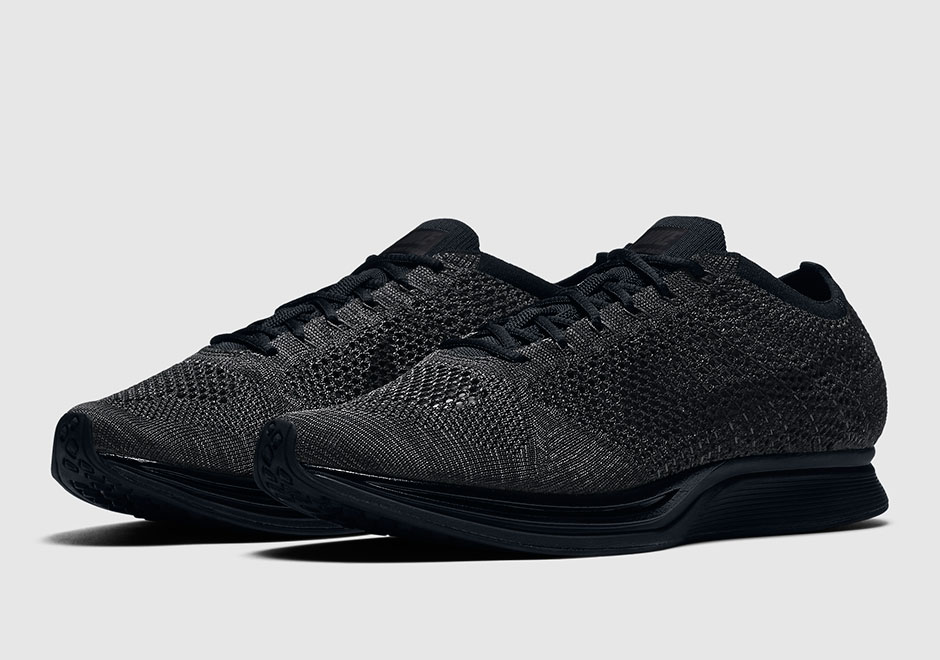 """42a67fc46054 Next week is the battle of """"Triple Black"""" as both the Nike Flyknit Racer  and the adidas Ultra Boost will release on consecutive days."""