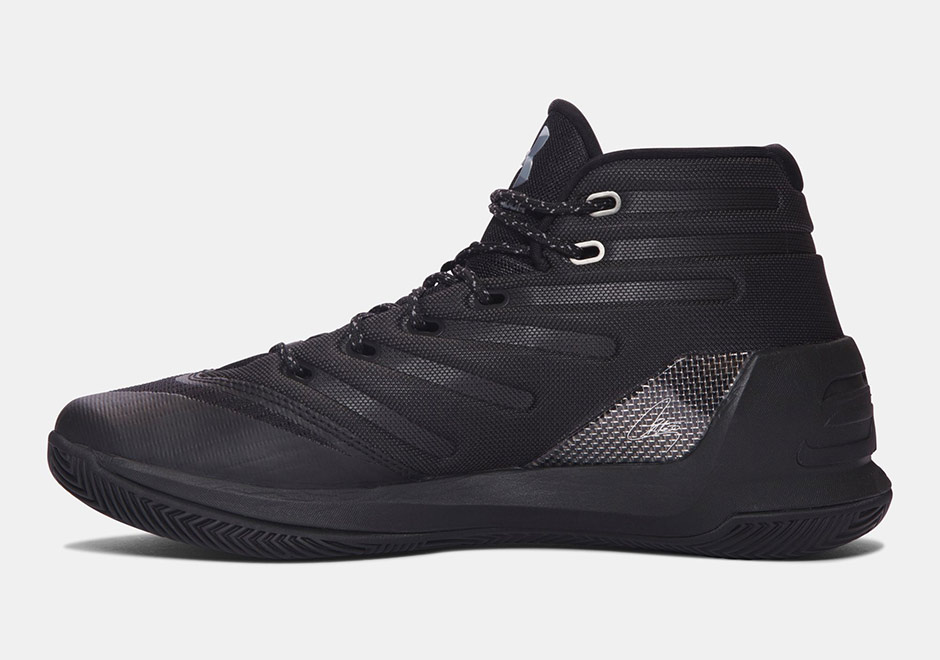 Under Armour Curry 3 Black Friday Release Triple Black  4d1d5a698737