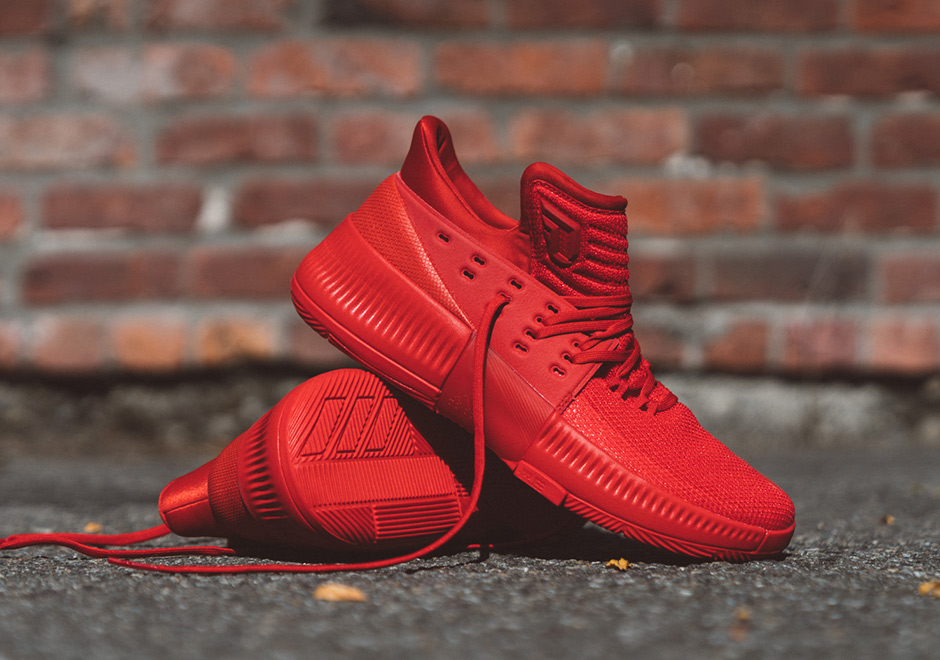 "premium selection aa088 7f32c ... Damian Lillards New adidas Signature Shoe Releases Tomorrow In All Red  adidas D Lillard 3 ""Roots"" ..."