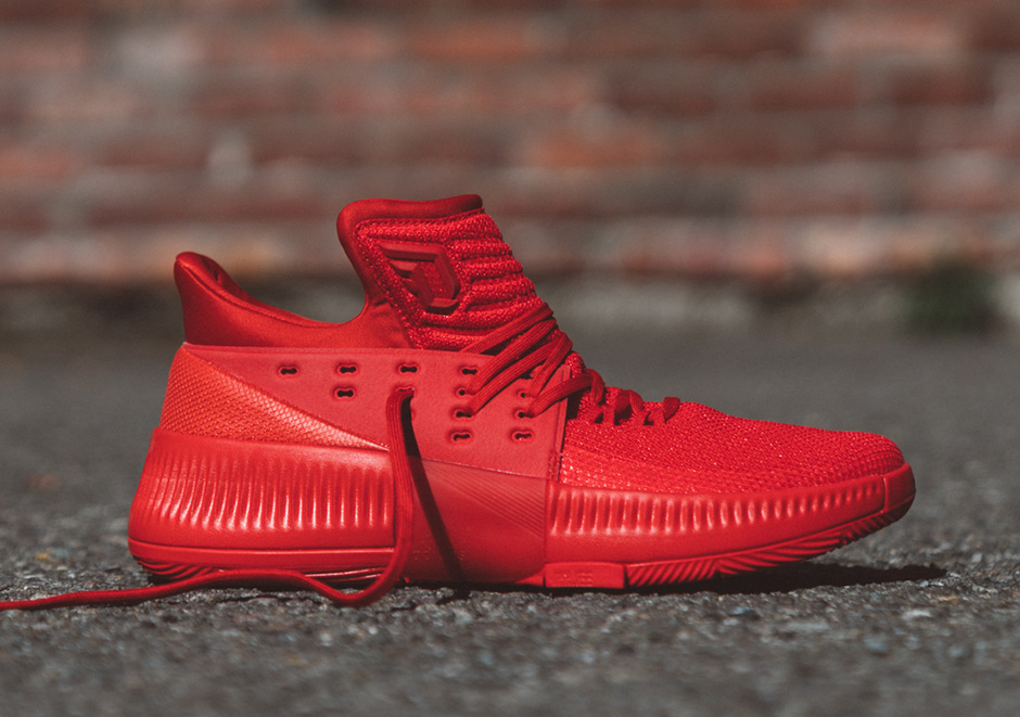 Adidas Dame 3 Roots Shoes BB8337 Red TopDeals