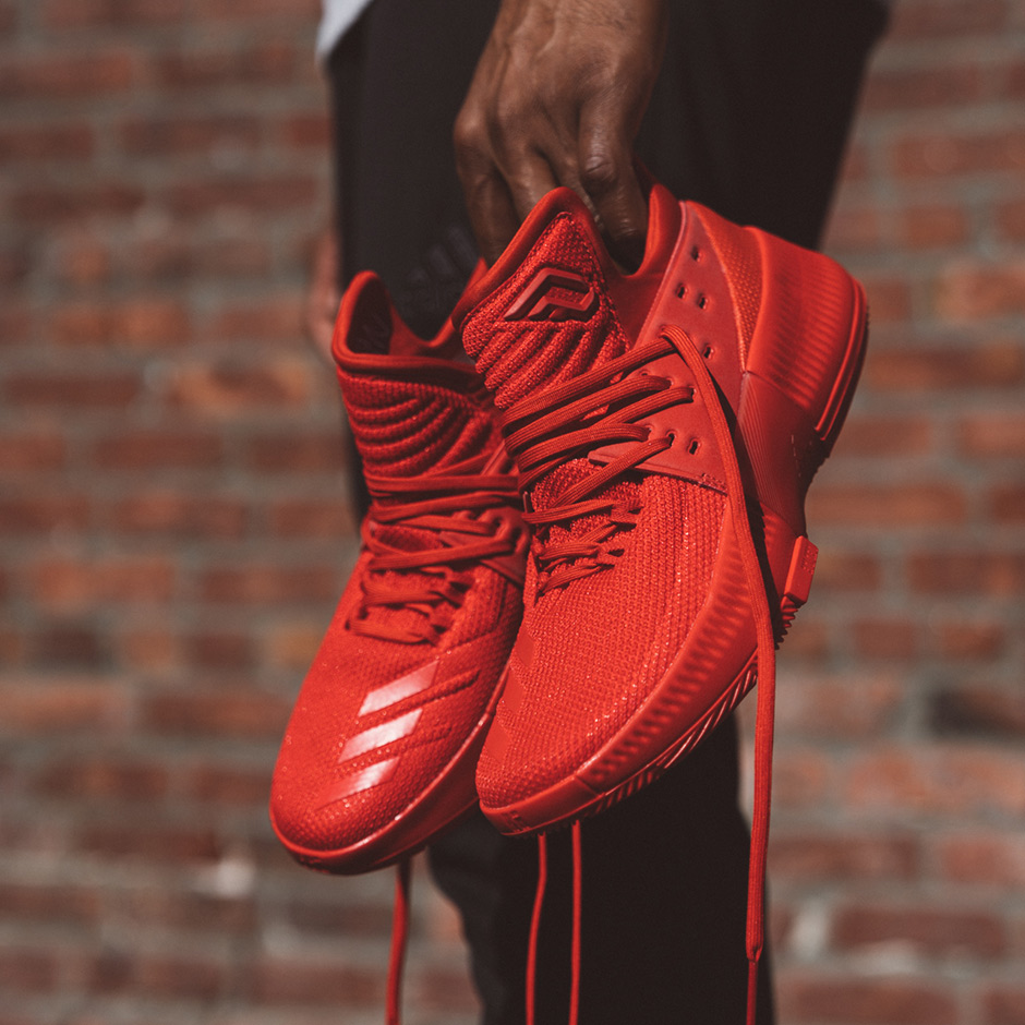 wholesale dealer ea6a3 7dfff Damian Lillards New adidas Signature Shoe Releases Tomorrow In All Red