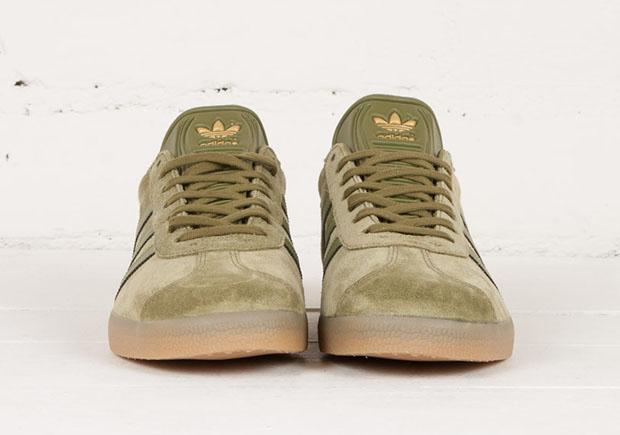 adidas gazelle olive