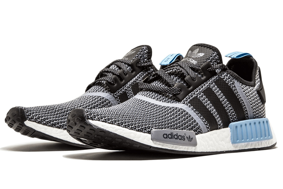 49. adidas NMD R1 Core Black/Clear Blue