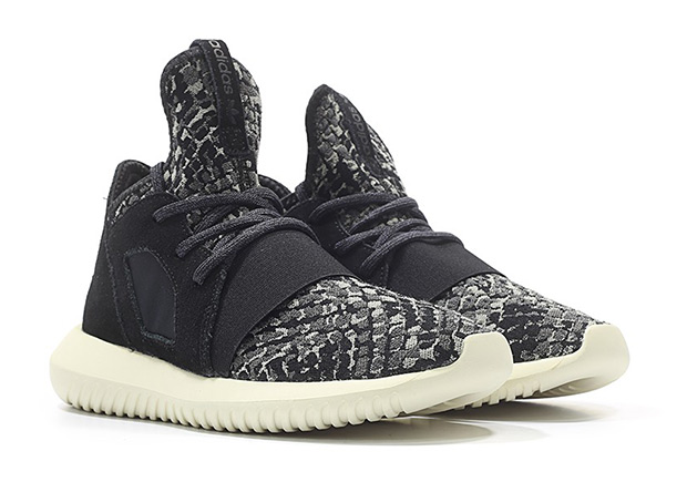 13cbacca8d6 Things stay interesting as usual for the adidas Tubular line with this new  look for the Tubular Defiant decked out in a snakeskin pattern across the  knit ...