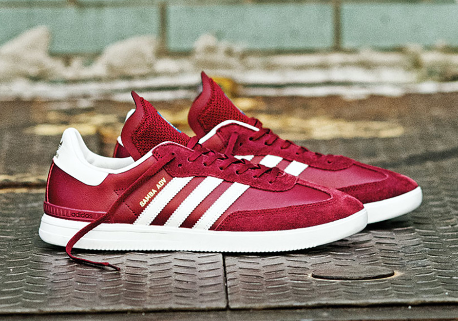delicate colors 100% quality later adidas Samba ADV Burgundy Release Date | SneakerNews.com