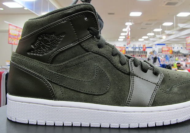 b12441ae35b See The New Suede Leather Air Jordan 1 Mid On Feet