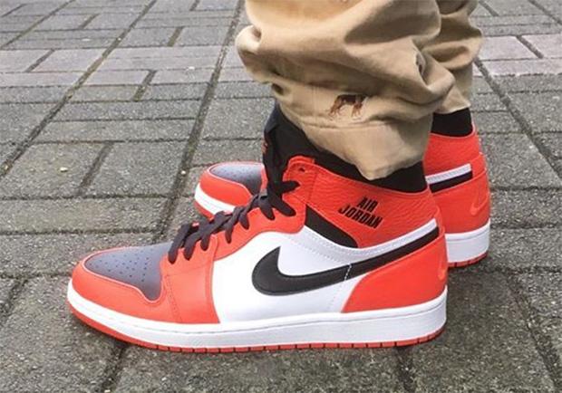 """6a28b58553 AIR JORDAN 1 """"RARE AIR"""". Color: Max Orange/Black-White Style Code:  332550-800"""
