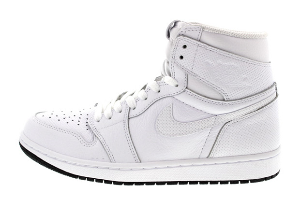 save off ce2db 31e3e ... sweden air jordan 1 high perforated. color white black white style code  555088 100.