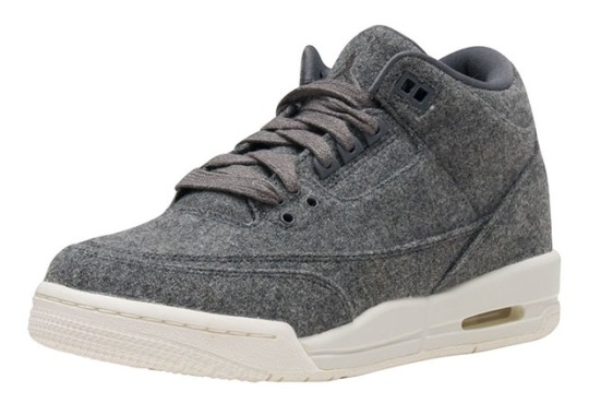 """The """"Wool"""" Air Jordan 3 Will Also Release In Kids Sizing"""