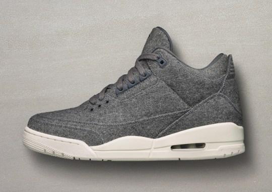 """The Air Jordan 3 """"Wool"""" Releases This Weekend"""