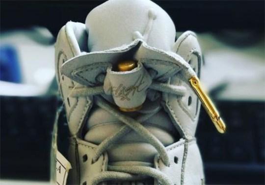 "Air Jordan 5 ""Flight Jacket"" Sample In White Surfaces"
