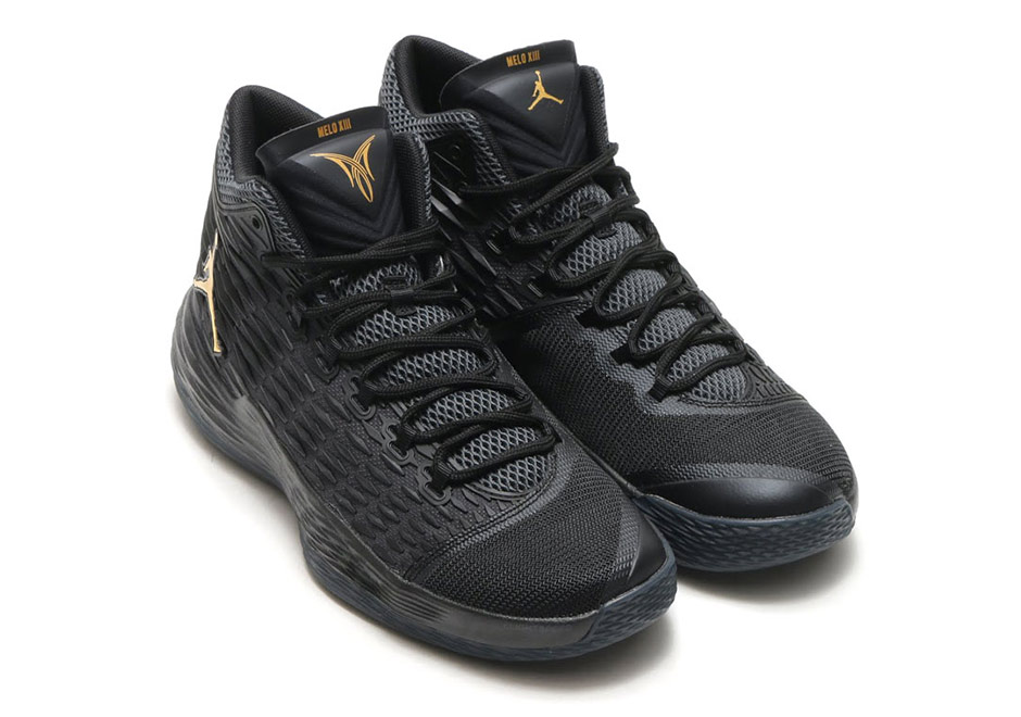f2530e67541 Jordan Melo M13 Black Gold 881562-004 | SneakerNews.com