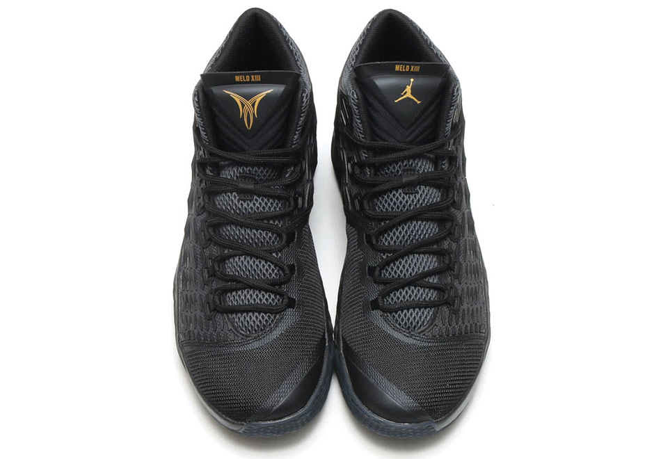 timeless design 30023 6ba68 Jordan Melo M13 Black Gold 881562-004 | SneakerNews.com