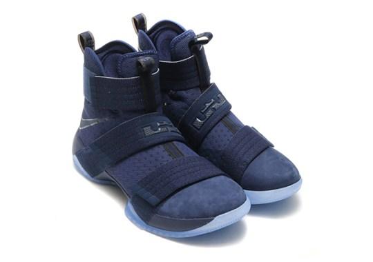 "Nike LeBron Soldier 10 ""Suede Toe"" Arriving In Navy"