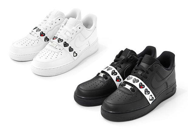 cheap for discount 587ff c247a Comme des Garcons Air Force 1 Emoji Sneakers   SneakerNews.com