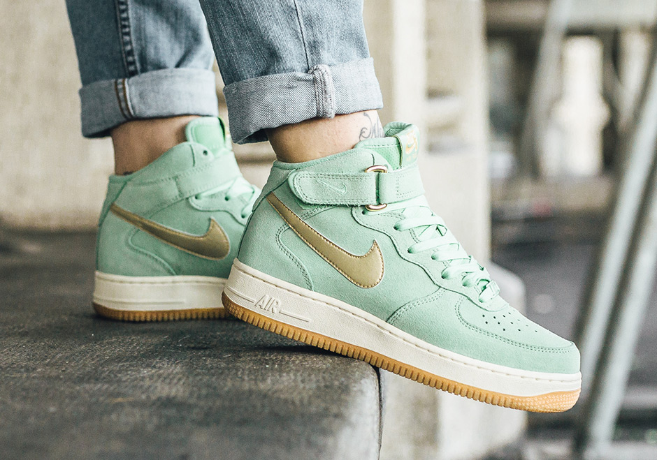 donna, nike air force 1 oro verde