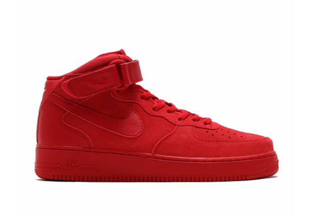Nike Air Force 1 Alto Octubre Rojo ch47Rv