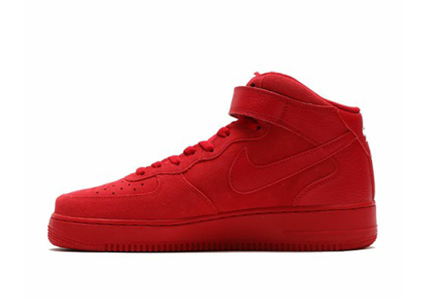 "Nike Air Force 1 Mid ""Red October"". Color  Gym Red Gym Red-White Style  Code  315123-609 6e40e0475c39"