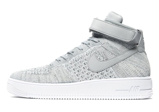The Nike Air Force 1 Mid Flyknit Gets a Heather Grey Upper