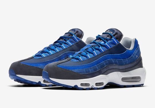 Multiple Blue Tones Hit The Nike Air Max 95