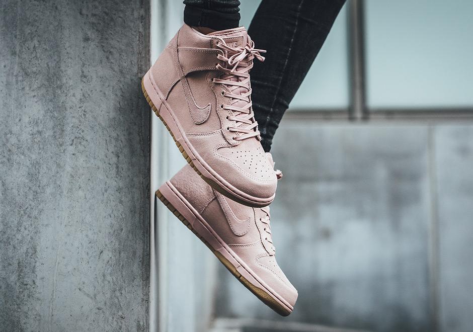 80c7c38ef813 Nike Dunk High Premium Oxford Pink 881232-600