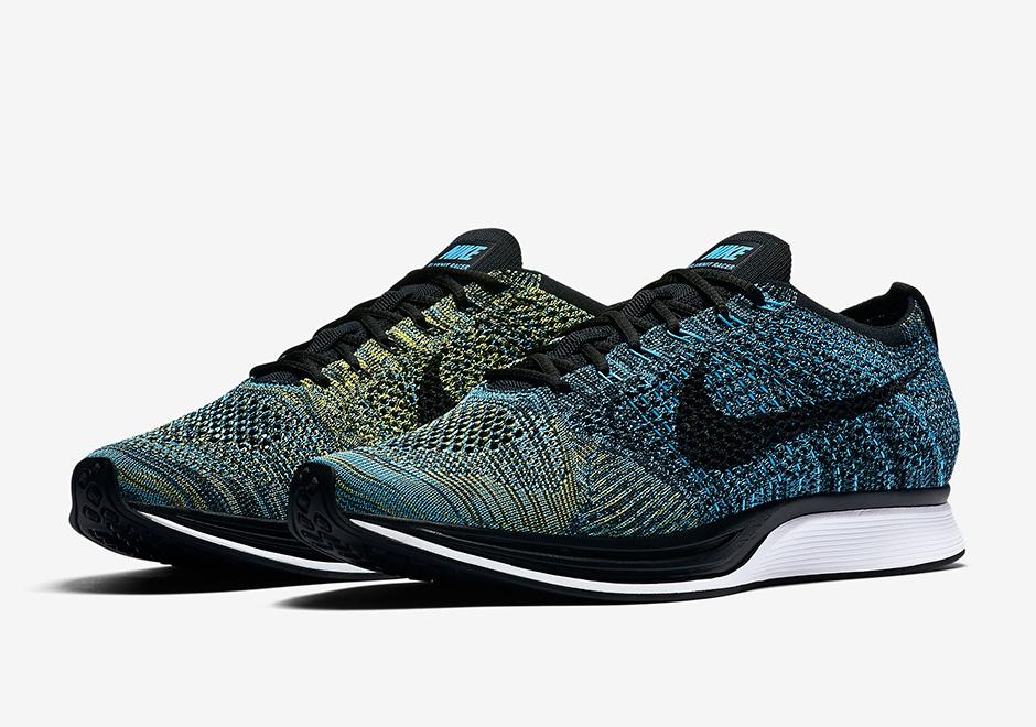 13ea0b0f7531e Nike Flyknit Racer Blue Glow 2017 Retro Release
