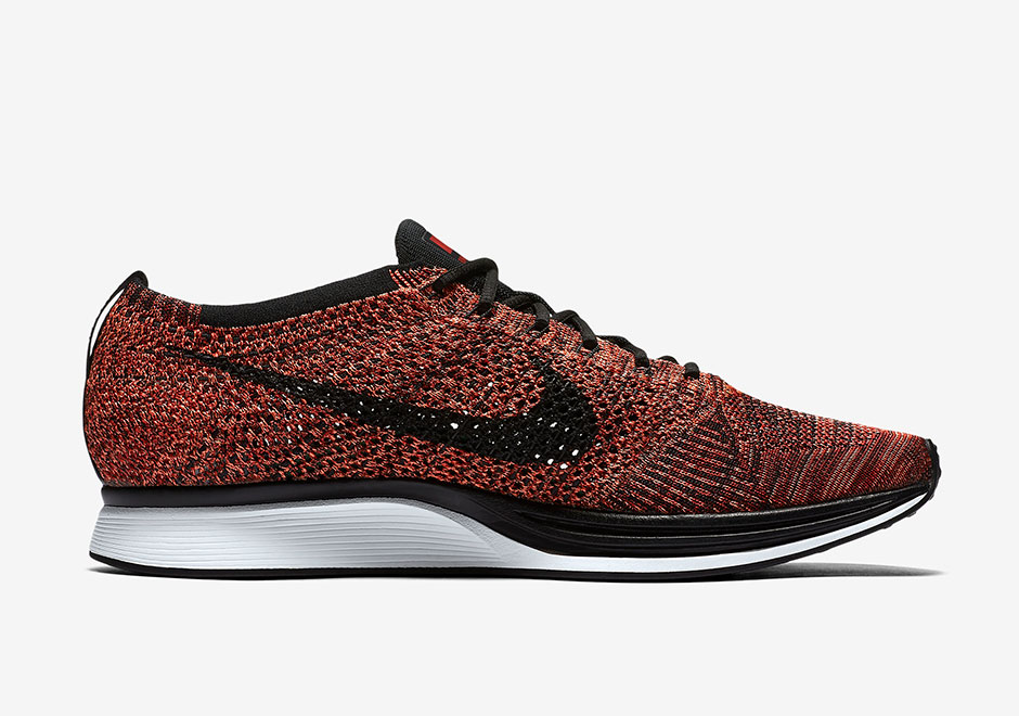 cf204d8b9886 Nike Flyknit Racer. Color  University Red Black-Bright Mango