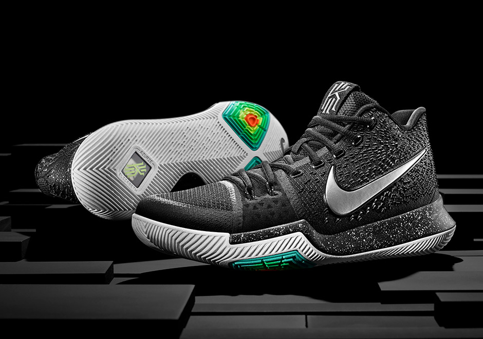 "ae556f5d2c53 Nike Kyrie 3 ""Black Ice"" Set To Release On December 26th"