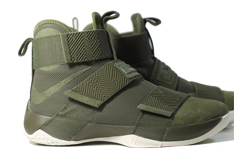 3df252f441f7 Nike LeBron Soldier 10 Lux Cargo Khaki 911306-330