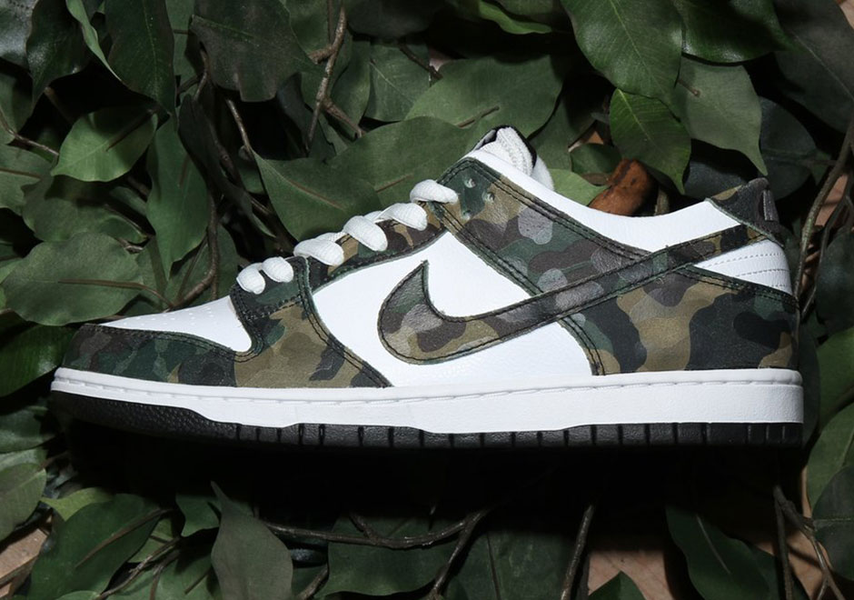 nike sb dunk low camo legion green 854866 331. Black Bedroom Furniture Sets. Home Design Ideas