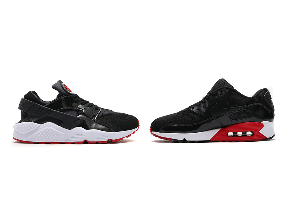 Nike Patent Leather Pack Air Max 90 and Huarache