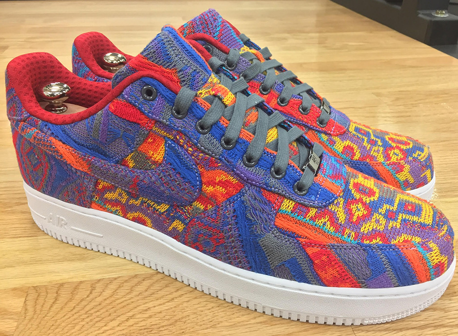 LeBron's Christmas Day Nike Air Force 1 Was Made From An Actual COOGI Sweater