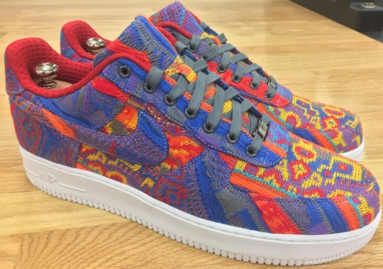 on sale 95333 8939b LeBrons Christmas Day Nike Air Force 1 Was Made From An Actual COOGI  Sweater
