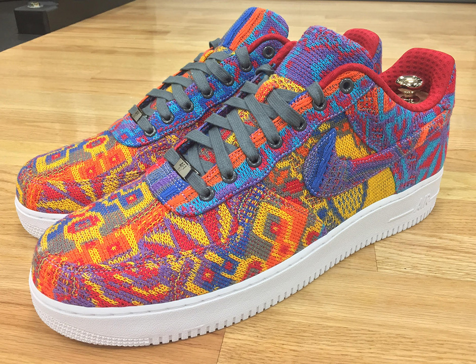 e764f0d1c8bb4 Check out more of LeBron's crazy NikeLab Air Force 1 Bespoke Christmas Day  pair below and be sure to check out the first look at the LeBron 14  Christmas Day ...