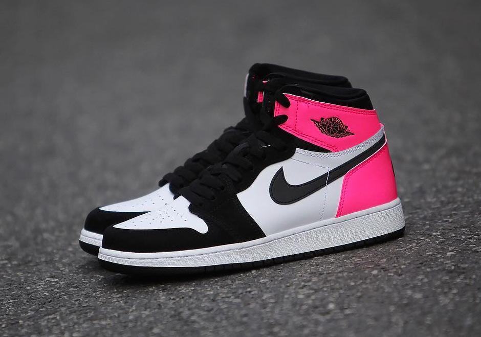 Air Jordan 1 Gg Black Pink Valentine S Day 2017