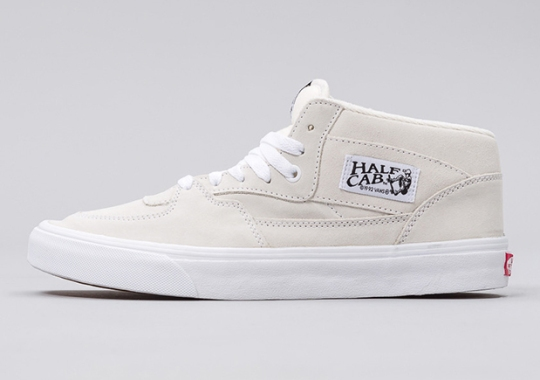 Off-White Suede Hits The Classic Vans Half Cab