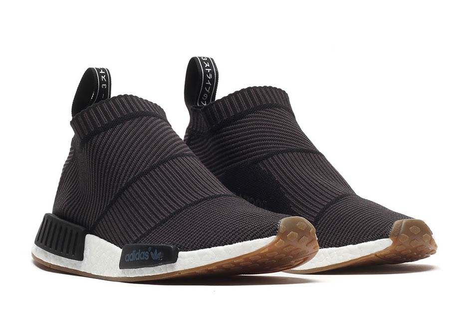 "Where To Buy The adidas NMD City Sock ""Black/Gum"""