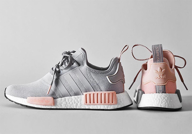 adidas nmd r1 grey pink by3059 by3058. Black Bedroom Furniture Sets. Home Design Ideas
