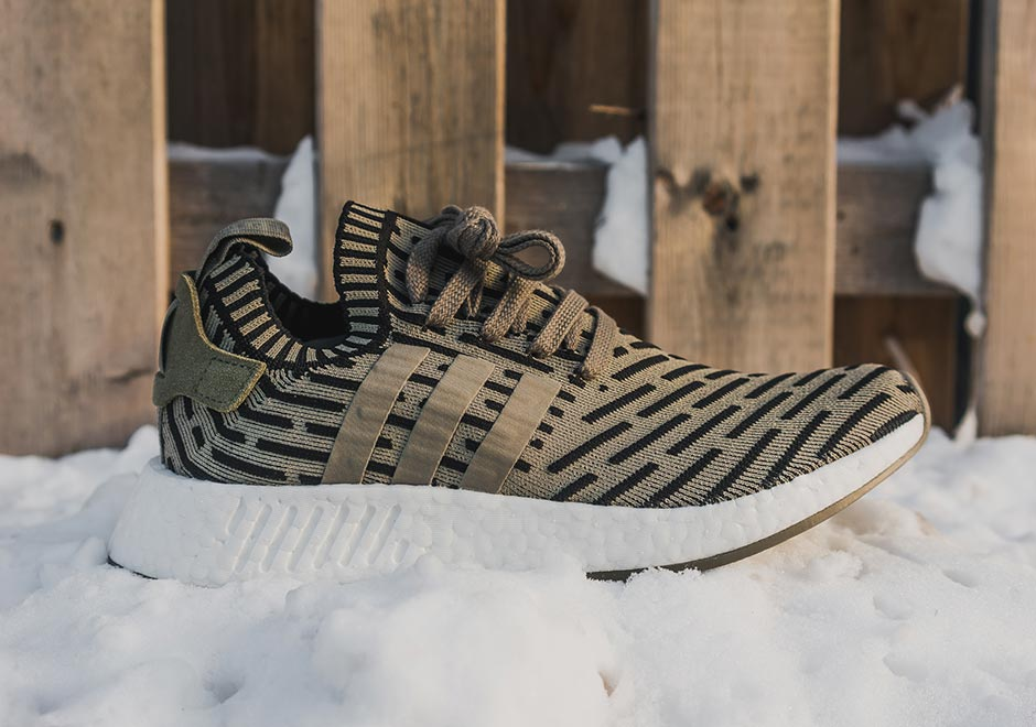 Adidas NMD R2 Primeknit in Olive Notre Notre Shop
