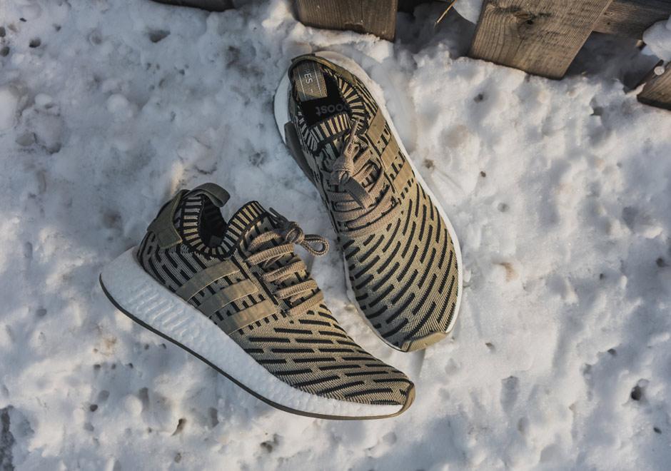 Adidas Mens Nmd_r2 Primeknit Olivengrønt Stoff wyCXAipOya